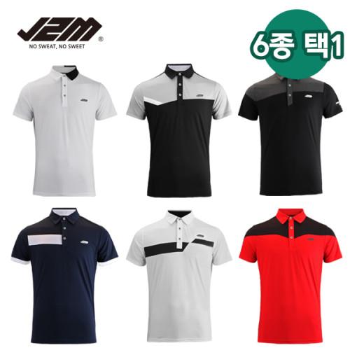 [골프야놀자]J2M 썸머 젠틀맨프리미어 리그 골프 반팔 6종택1