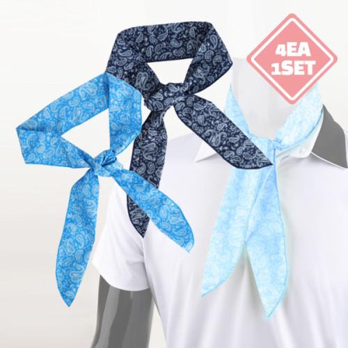 J2M 메이드인코리아 아이스 쿨 스카프_4개1세트