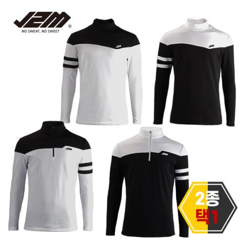 [골프야놀자]J2M 기모 윈터핏 긴팔티셔츠 2종택1