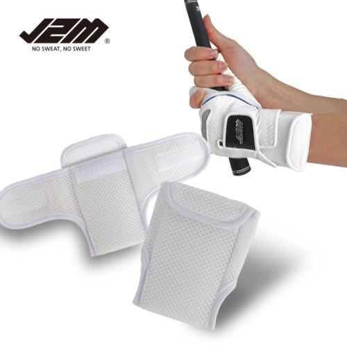 [골프야놀자]J2M 슬라이스 훅 교정 손목 프로 밴드_화이트