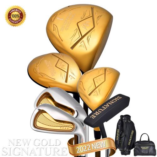 (무료 배송) 2022년형 야마모토 뉴 골드 시그니처 남성용 풀세트 (캐디백세트 포함 / 스틸아이언 / 12pc) / YAMAMOTO NEW GOLD SIGNATURE Full set