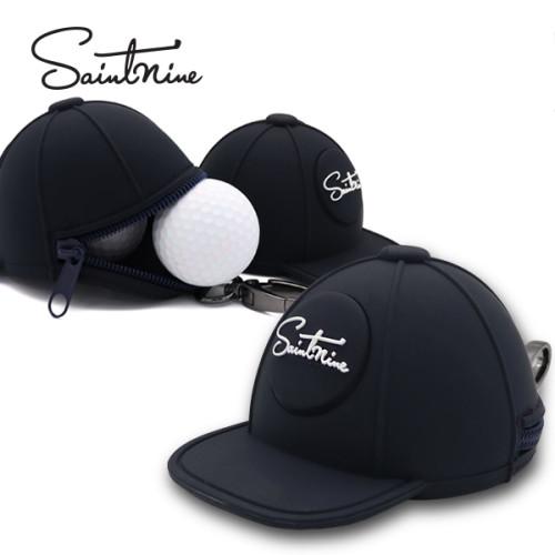 세인트나인 2구 모자형 볼주머니 골프공주머니